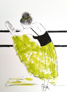 Ballet barre (34,4x44,4 cm - 1.500 kr.)