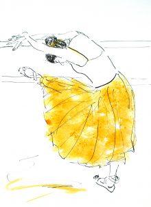 Ballet barre (36,8x45 cm - Solgt)