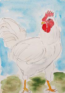 Høne (34,4x44,4 cm – 1.500)