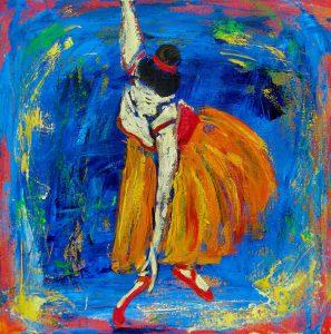 Balletpositur (40x40 cm - 1.800kr)