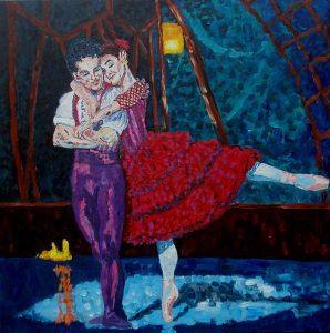 Ballet (80x80 cm - privateje)